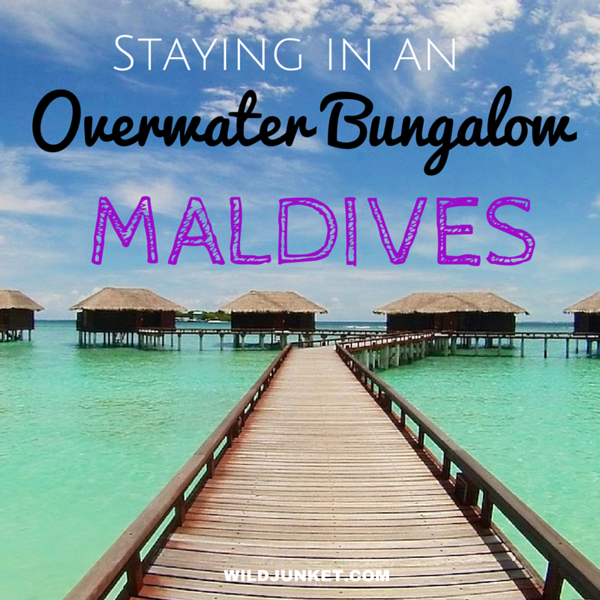 staying in an overwater bungalow