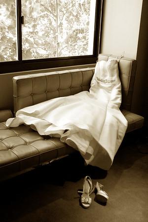 Bride getting ready at SLS Hotel