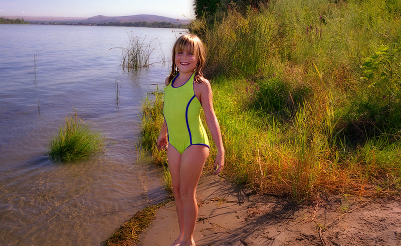 Elena loved swimming in the Columbia...