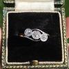 .80ctw Antique English 3-Stone Peruzzi Cut Diamond Ring 7