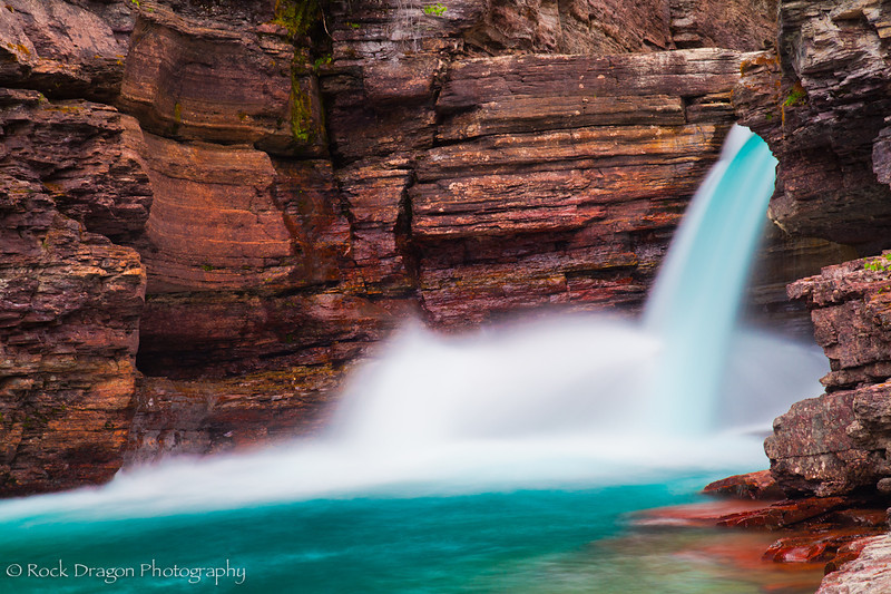 St. Mary Falls in Glacier National Park, Montana.