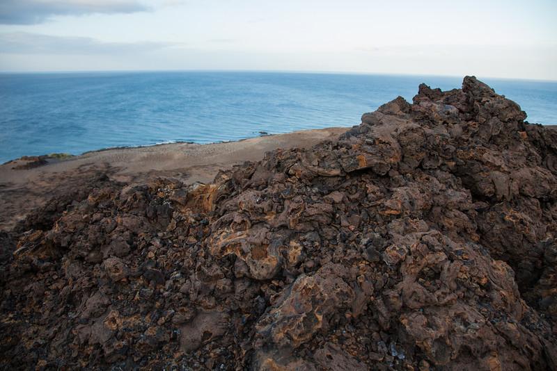 Volcanic rock.
