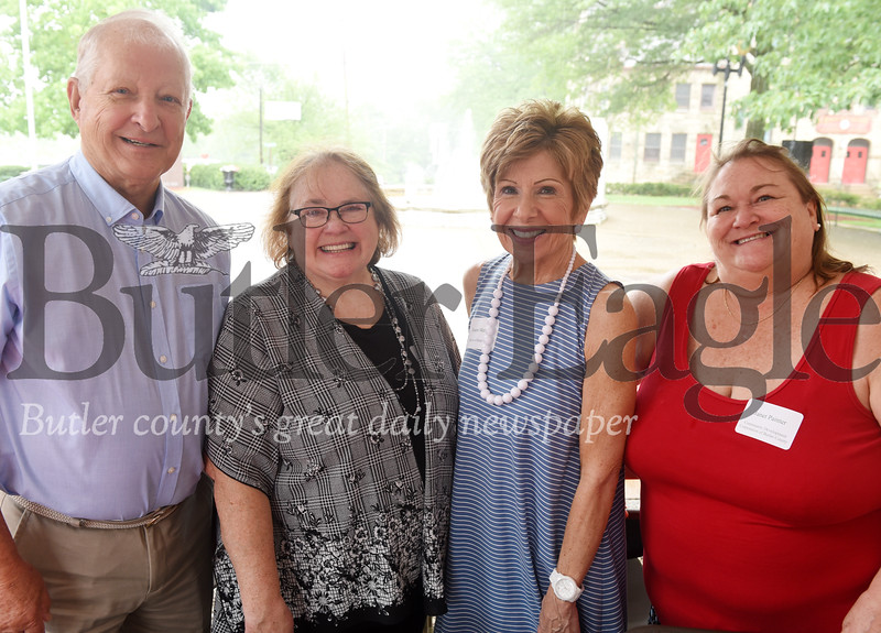 Harold Aughton/Butler Eagle: (Left to right) Ron Sarver ARC; Lois Cranmer, ARC; Joanne Meredith of ARC and Janet Painter, Butler County Community Development