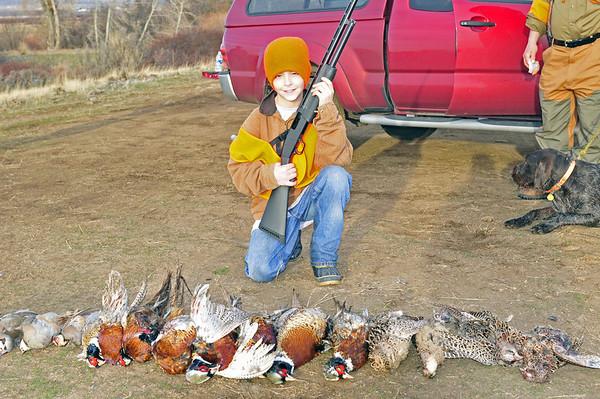 Logan's 1st Pheasant Hunt
