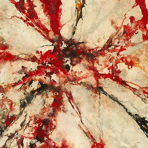 Red Marble-Hibberd, AERS12-, 50x50 canvas