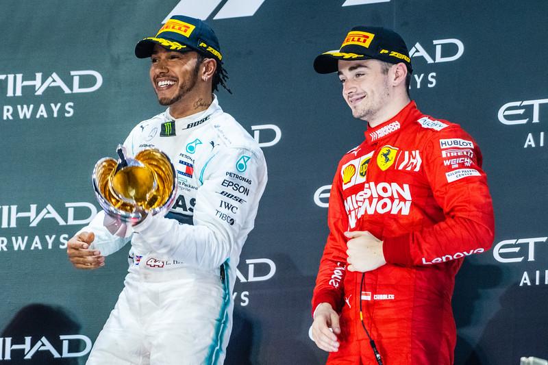 Lewis HAMILTON and Charles LECLERC, UAE/Abu Dhabi, 2019