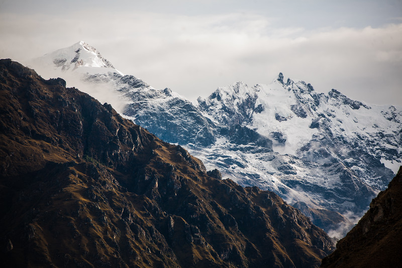 View of snowcapped mountains - Peru