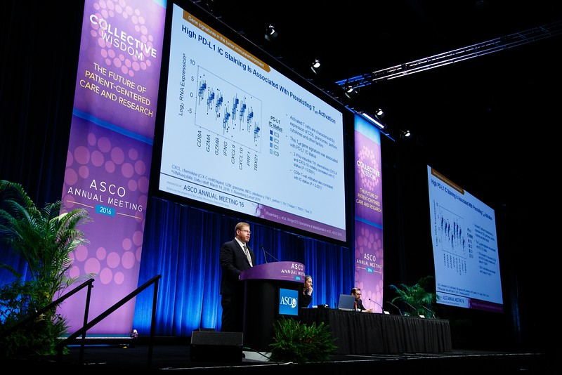 Jonathan E. Rosenberg, MD, discusses Abstract 104 during Immunotherapy: Now We're Getting Personal? Using Genomics and Biomarkers to Predict Response