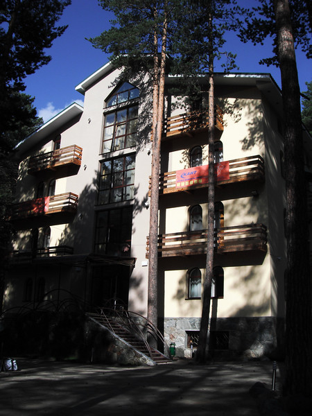 """Our hotel: """"Povorot"""" at Cheget village."""