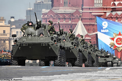 Dress rehearsal for 2013 Victory Day Parade on the Red Square