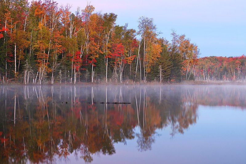 Fall Reflection - Red Jack Lake (Hiawatha National Forest - Upper Michigan)