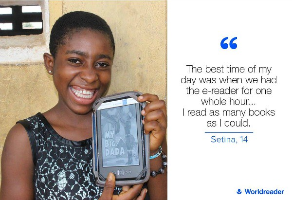 Worldreader provides e-readers to schools and libraries in the developing world.