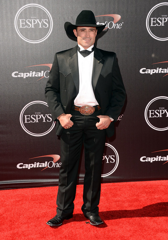 . LOS ANGELES, CA - JULY 16:  Brazilian professional bull rider Guilherme Marchi attends The 2014 ESPYS at Nokia Theatre L.A. Live on July 16, 2014 in Los Angeles, California.  (Photo by Jason Merritt/Getty Images)