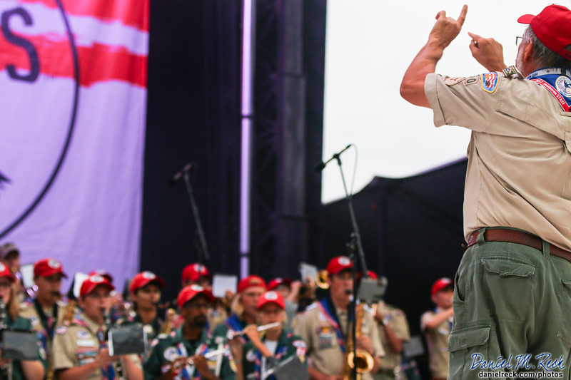 George Pinchock Conducts the National Scout Jamboree Band
