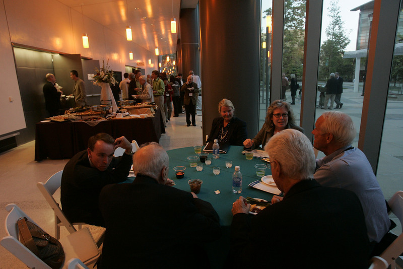 A beautiful reception is provided mid-tour at the Next-Generation Visualization and Networking Facilities, Calit2, UCSD