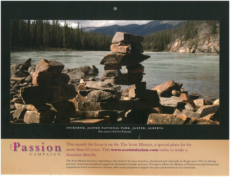 2009 Passion Campaign Calendar, Inukshuk, Jasper Nat. Park, Alberta, Sept. 2009 page.jpg