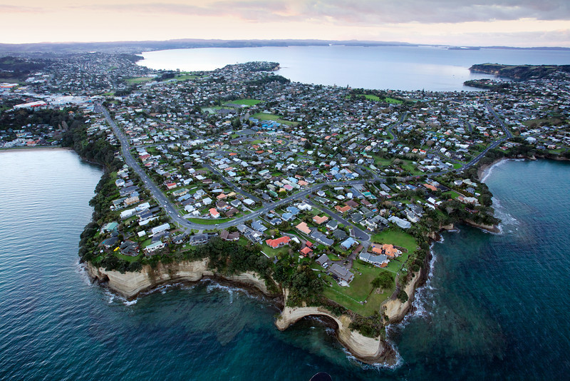 Homes on the Whangaparoa Peninsula north of Auckland