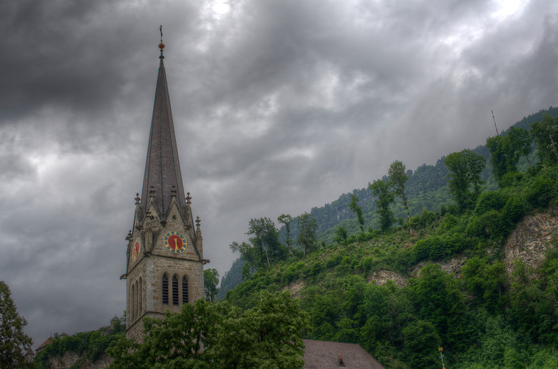 Vaduz Cathedral, or Cathedral of St. Florin, in Vaduz, Liechtenstein