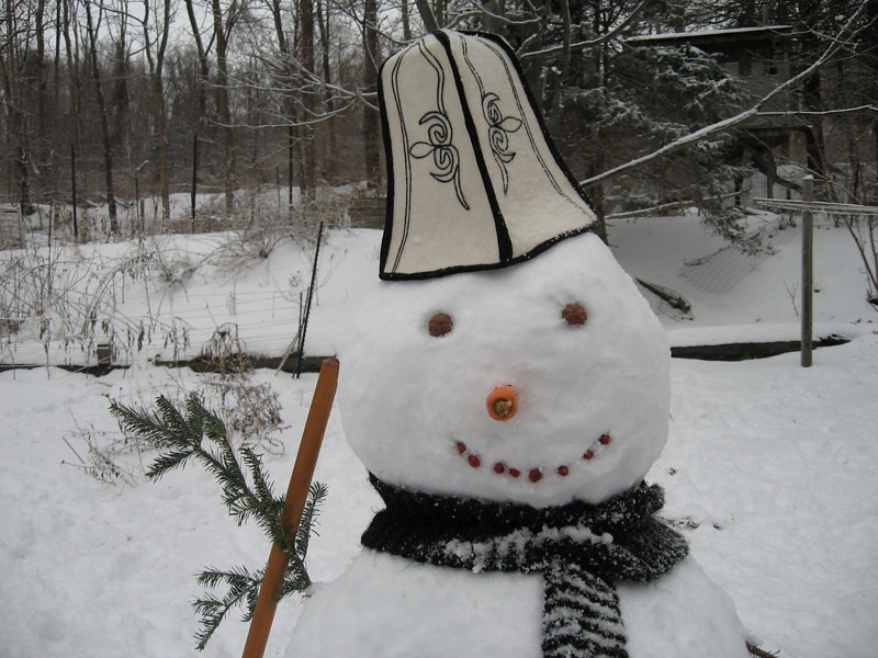Snowman with a Kalpak - Beijing, China
