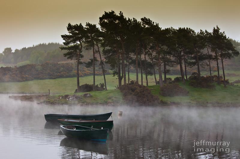 Three boats at Knapps Lock.