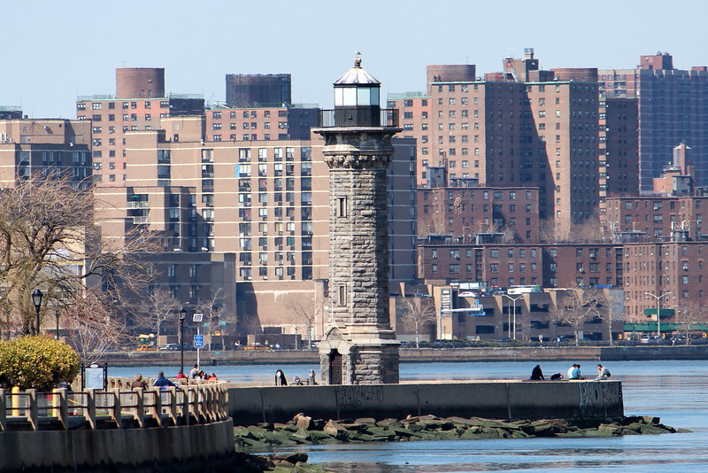 Lighthouse at northern tip of Roosevelt Island, New York, NY