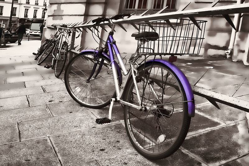 Paris purple bike B&W 0702.jpg