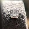 .54ctw Asscher Cut Diamond Bezel Stud Earrings, Platinum 4
