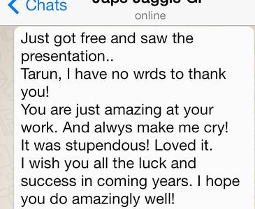 Appreciation From Japna Kalra - Delhi
