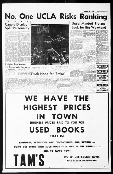 Daily Trojan, Vol. 55, No. 58, January 06, 1964
