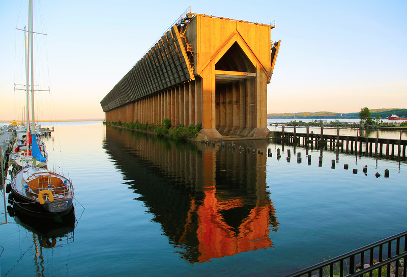 Abandoned ore dock,  Marquette, Wisconsin