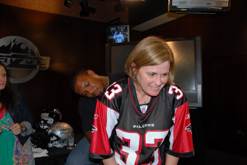 Tammy the Falcon Fanatic with Michael Turner
