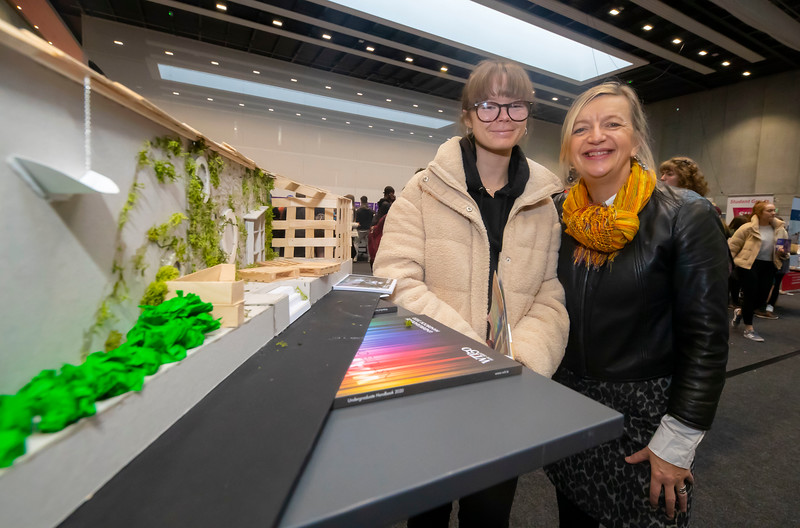 "22/11/2019. FREE TO USE IMAGE. Pictured at Waterford Institute of Technology (WIT) Open Day. Pictured is Kim Dalton from the Presentation Secondary School, Waterford with Máire Henry Head of Dept  of Architecture.  Picture: Patrick Browne  Two open days taking place this week for school leavers and adult learners at WIT Arena  Families of south east Leaving Cert students wishing to get as much course and college-related research done as early as possible in sixth year can do so by attending the Waterford Institute of Technology (WIT) Saturday Open Day, 9am-2pm on 23 November 2019. The traditional schools' open day will run as usual on Friday, 22 November with a focus on information for secondary school students, students in further education colleges, and other CAO applicants, including mature students.  The Saturday Open Day – isn't just about courses for school leavers – it will have information available on the courses available across WIT's schools of Lifelong Learning, Humanities, Engineering, Science & Computing, Health Sciences, Business.  Adults interested in upskilling, or re-skilling can find out about Springboard courses, traditional evening courses as well as part-time and postgrad courses which are offered. WIT also runs specialist programmes for education, science, engineering and other professionals. The number of students studying WIT's part-time and online courses increased to 1650 in 2018, a 28% increase on 2017.  WIT Registrar Dr Derek O'Byrne says: ""A trend we are seeing at WIT Open Days is that students who may have enjoyed the Schools Open day with their friends and school groups, will return the following day with their parents or guardians.""  Students whose schools are attending are encouraged to join their school group on the Friday. As school students are fully catered for at the Schools' Open Day on Friday, there will not be the same breadth of school leaver focused talks and events at the open day on Saturday. However,"