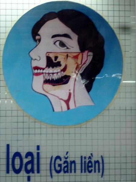 Dentist shop window, Hanoi