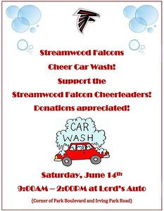 20140614 Streamwood Falcon's Cheer car wash