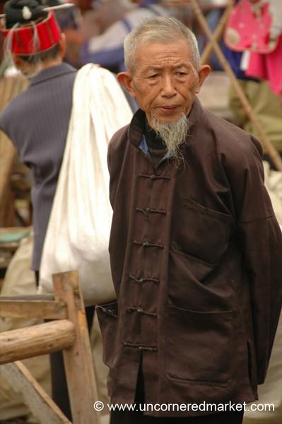 Pensive Chinese Man - Guizhou Province, China