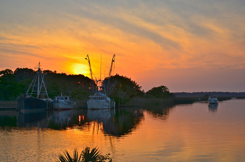 Sunset on the Apalachicola River.