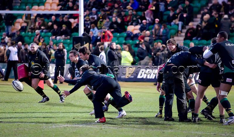 Northampton Saints vs Leicester Tigers, Guinness Premiership, Franklin's Gardens, 23 February 2010