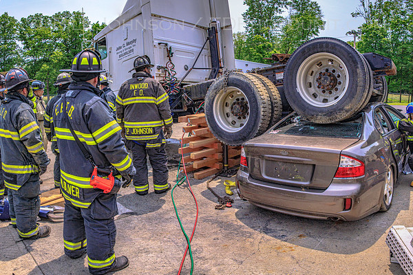 East Fishkill firefighters along with firefighters from the Inwood, LI FD participated in this extrication drill held at the East Fishkill Fire Training Center on Saturday, June 1st. MESFire provided numerous Hurst battery powered extrication tools to use