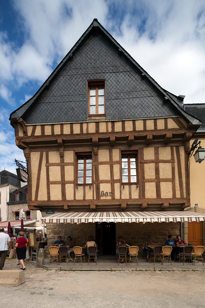 Typical house, Saint-Goustan port, town of Auray, departement of Morbihan, Brittany, France