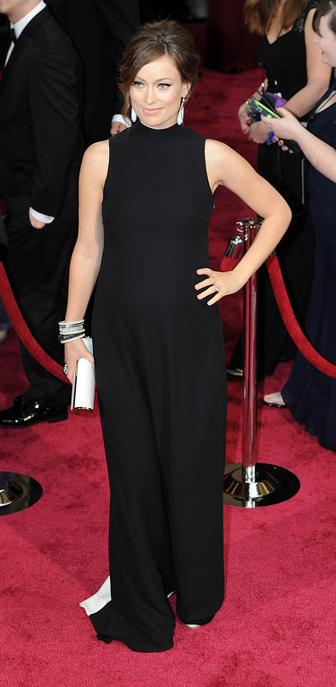 . Olivia Wilde attends the 86th Academy Awards at the Dolby Theatre in Hollywood, California on Sunday March 2, 2014 (Photo by John McCoy / Los Angeles Daily News)
