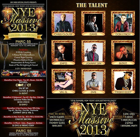 NYE 2013 Massive @ Parc 55 12.31.12