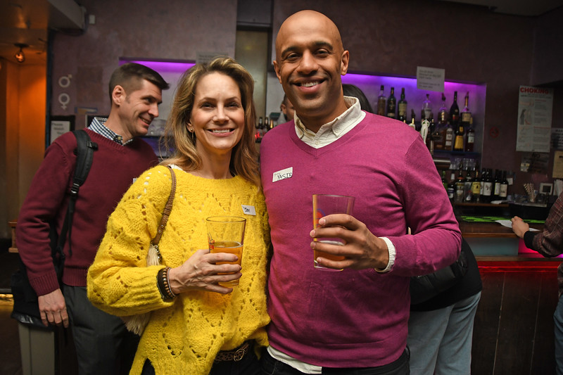 NEW YORK - FEBRUARY 28, 2019: Vegan Drinks Event on February 28, 2019 at Solas in Manhattan, New York. (Photo by Lukas Maverick Greyson)