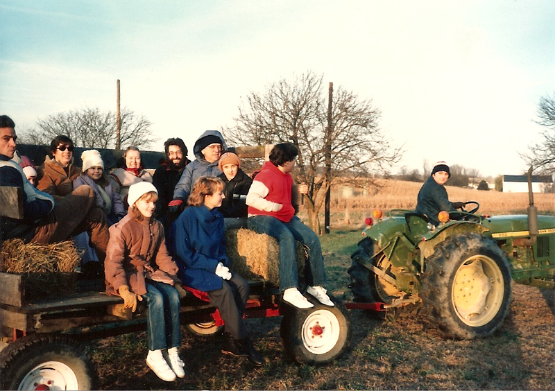Hayride at Thompson Farm - Thanksgiving '84