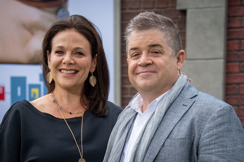 WESTWOOD, CALIFORNIA - JUNE 02: Meredith Salenger (L) and Patton Oswalt attend the Premiere of Universal Pictures' 'The Secret Life Of Pets 2' at Regency Village Theatre on Sunday, June 02, 2019 in Westwood, California. (Photo by Tom Sorensen/Moovieboy Pictures)