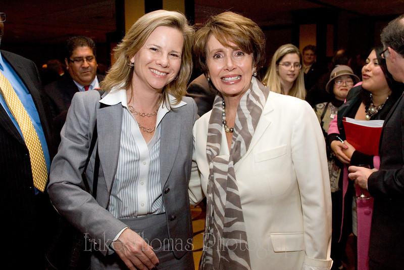 Kat Anderson and Nancy Pelosi.