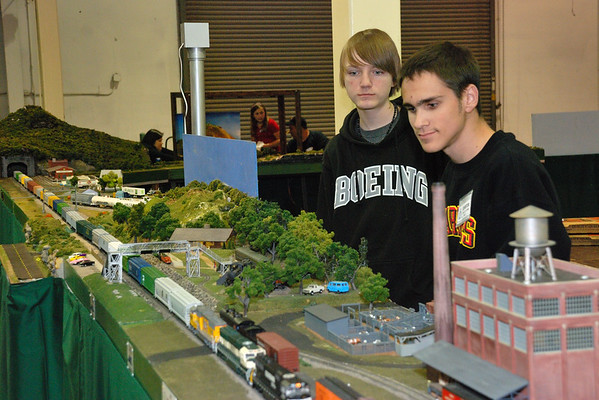 Chad Janicki and Caleb Samples at the Great Train Expo