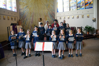 2014-12-11 St. Angela Children's Choir performing at  Chateau De Notre Dame