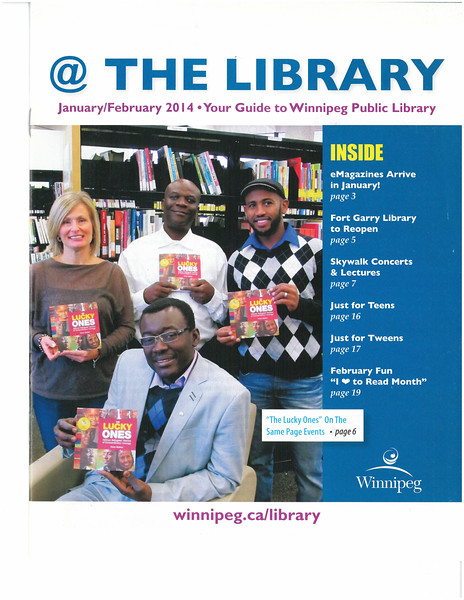 Your Guide to Winnipeg Public Library Jan- Feb 2014 - Front Cover - The Lucky Ones.jpg