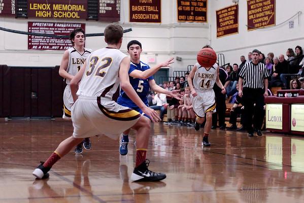 Drury at Lenox Boys' Basketball-012014
