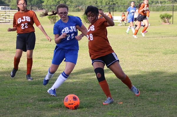 GJS vs CBJ - 7th Grade Girls Soccer Game